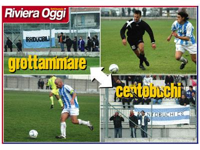 Il poster dedicato al derby Grottammare-Centobuchi
