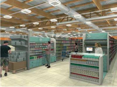 Farmacia in un centro commerciale