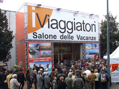 L'entrata del Salone Internazionale delle Vacanze a Lugano, Svizzera