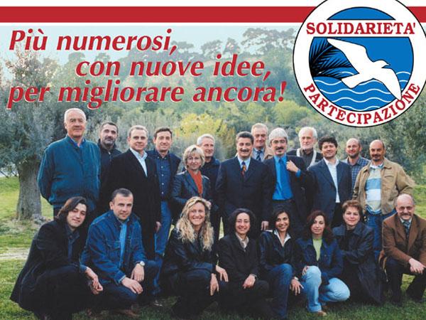 Il gruppo di Solidarietà e partecipazione che nel 2003 vinse con il 56,45% dei voti