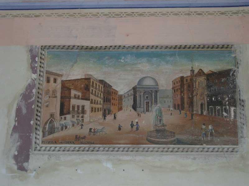 Un affresco risalente alla metà dell'Ottocento