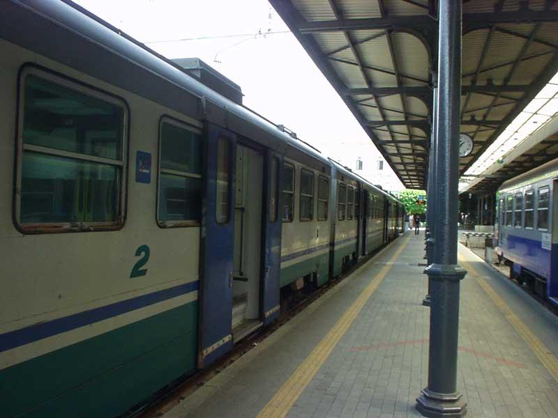 Una stazione ferroviaria