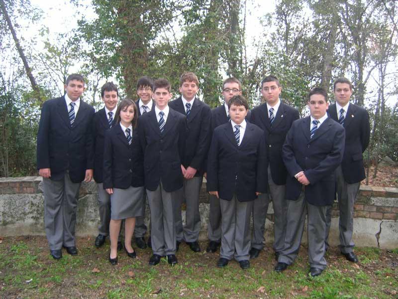 Alcuni studenti in divisa del Liceo Aereonautico di Corropoli