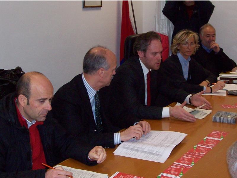 Da sinistra: Eldo Fanini, Giancarlo Vesperini, Antimo Di Francesco, Margherita Sorge, Settimio Capriotti.