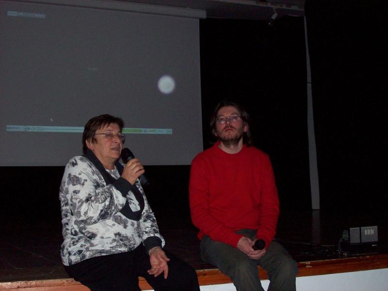 L'avvocato Simonetta Crisci e Tommaso La Selva durante l'incontro al cineforum Blow Up.