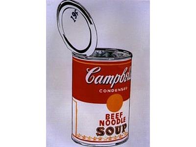 Il barattolo della Campbell's Soup, soggetto di molte opere di Warhol