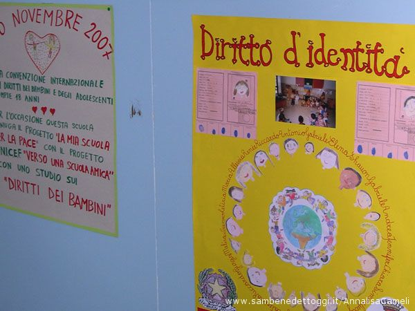 La scuola dell'infanzia ha disegnato i diritti dei bambini