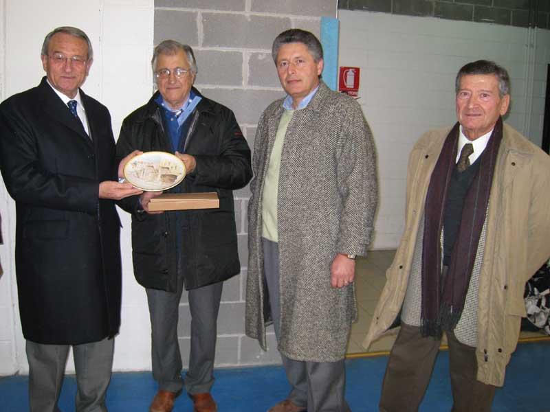 Il sindaco Di Salvatore, Gianfilippo Vallese, Giovanni D'Eugenio e Umberto Gramenzi