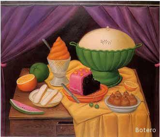 Tavola imbandita (Still Life - Fernando Botero)