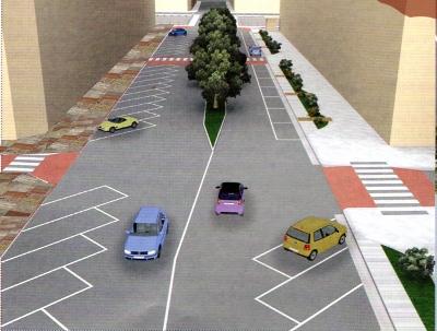 Un viale De Gasperi double-face in una simulazione al computer. I cittadini stiano tranquilli, dopo le ultime precisazioni del progettista: il lato est riprenderà a grandi linee i colori del marciapiede ovest
