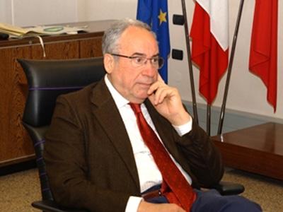 Il presidente della Regione Abruzzo Ottaviano Del Turco