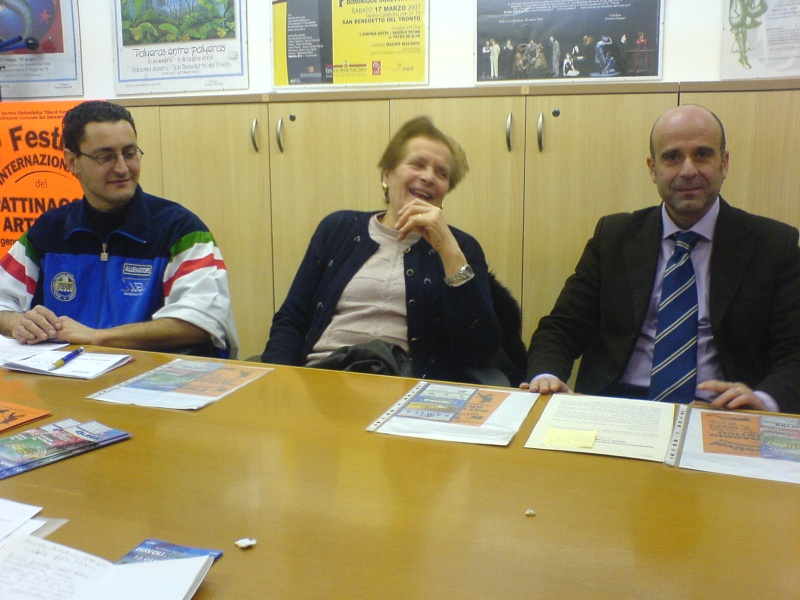 Da sinistra: Ivan Bovara, Rosa Bovara, Eldo Fanini.