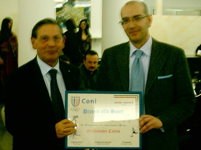 Giandomenico Di Sante premia Bruno Sabatini