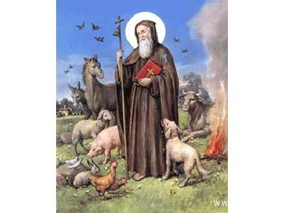 Sant'Antonio abate, protettore degli animali