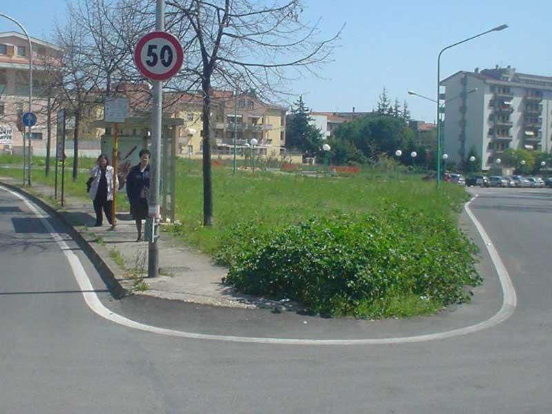 Un'area verde comunale