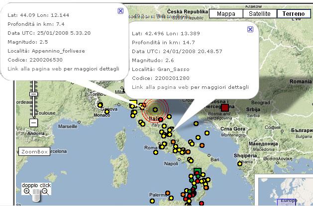 Le due scosse di terremoto, a distanza di poche ore, sul Gran Sasso e sull'Appennino forlinese