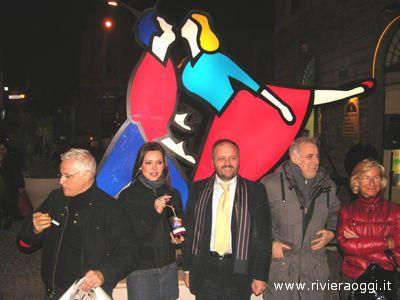 Vale & Tino: dalla sinistra Luigi Gentile, Valentina Pace, Giovanni Gaspari, Marco Lodola, Margherita Sorge