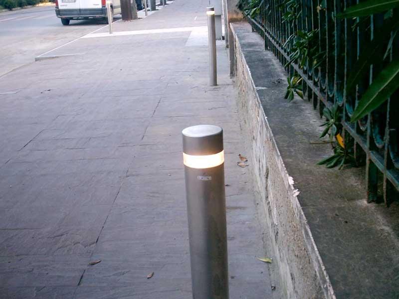 I lampioni accesi sul lungomare di Giulianova
