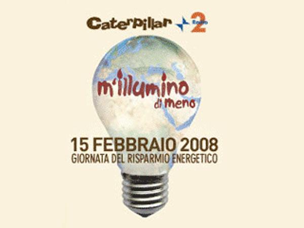Logo del'iniziativa M'illumino di meno, volta al risparmio energetico