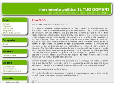 La home page del sito de