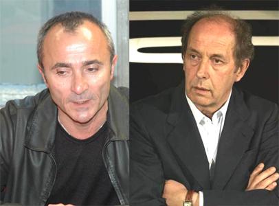 Gianni Tormenti (a sinistra) e il ds del Palermo Rino Foschi