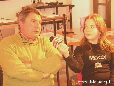Giuseppe Santori intervistato da una studentessa della scuola