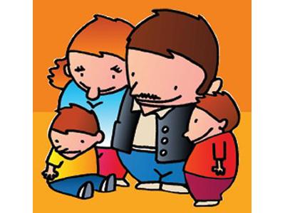 Un simpatico disegno sull'affidamento temporaneo alle famiglie dei cosiddetti