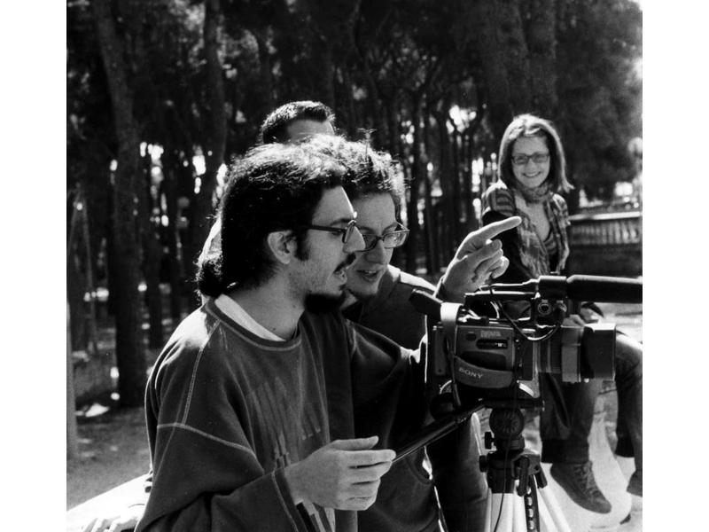 Alberto Angelini sul set