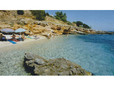 Un tratto di spiaggia in Croazia