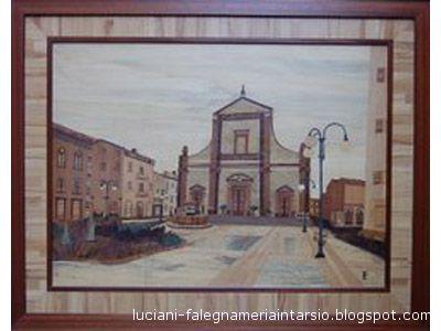 La cattedrale Madonna della Marina in un'opera della falegnameria Luciani