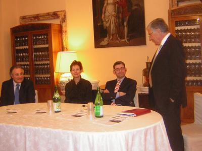 Il senatore Amedeo Ciccanti, Gabriella Ceneri, l'onorevole Luca Volonté, il sindaco Giuseppe Torquati