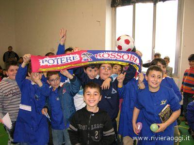 I giovani tifosi della scuola elementare