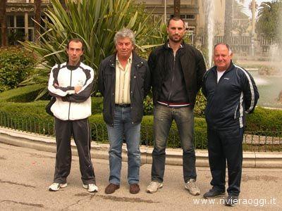 Giuseppe Ricci, presidente Itb Italia, il secondo da sinistra, assieme ad alcuni associati sambenedettesi