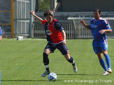 Vicentini, uno dei migliori rossoblu contro l'Ancona