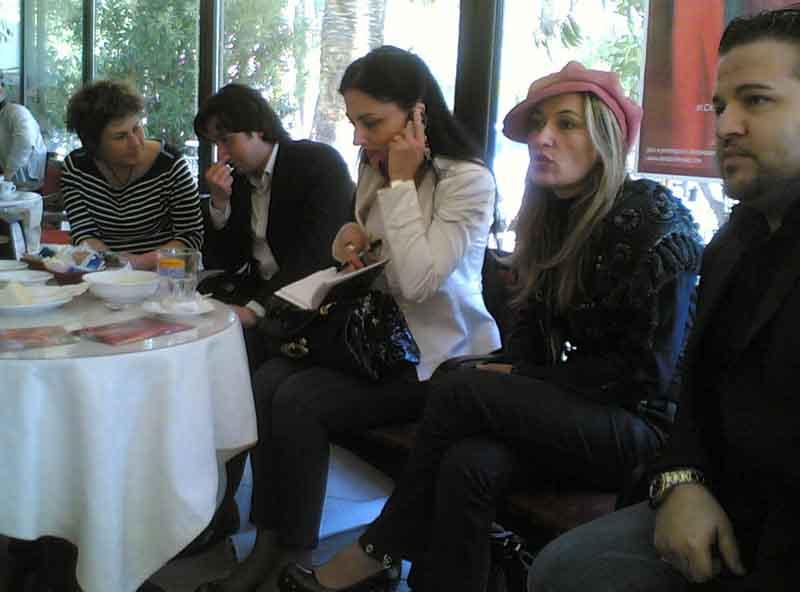 Da sinistra Mirella Treves, Enrico Piergallini, Paola Suerrini, Tiziana Ferretti e Frank Costa