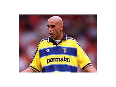 Stefano Torrisi quando indossava la maglia del Parma