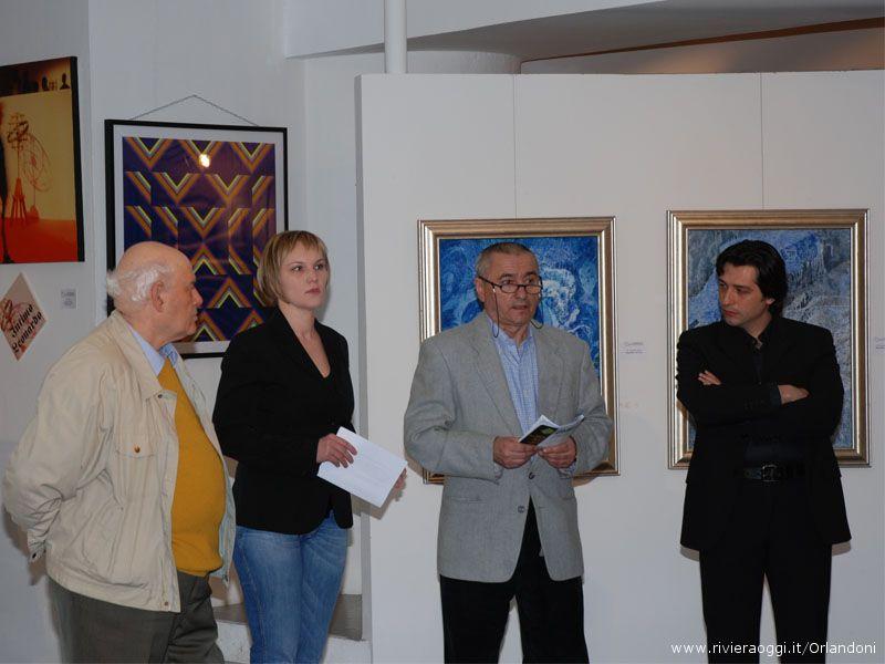 Antonio Casilio, Marianna Jurcova, Fernando Calvà ed Enrico Piergallini