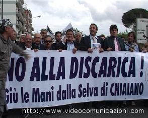 Manifestazione a Chiaiano