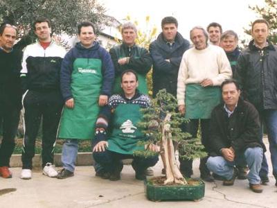 Un gruppo dell'Ascoli bonsai club