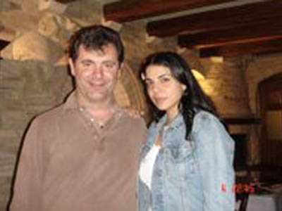 Giulio Spadoni con Mietta