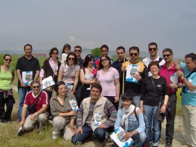 Il gruppo di Oristano in visita alla Sentina hanno incontrato Olga Silvestri che ha illustrato loro il progetto Parco Marino del Piceno