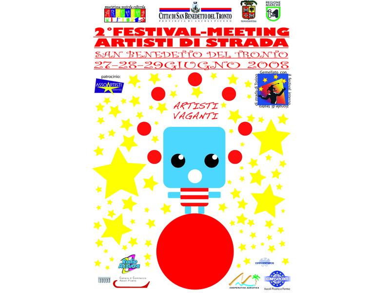 Manifesto del II° Festival-Meeting degli artisti di strada