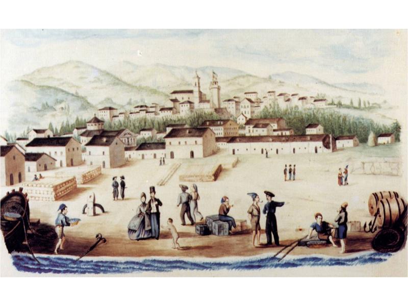 Una raffigurazione della San Benedetto dei secoli passati (immagine gentilmente concessa dal Circolo dei Sambenedettesi)