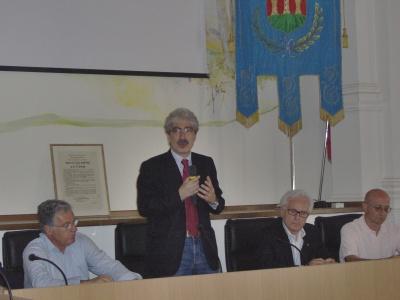 Giuseppe Torquati, Massimo Rossi e Sisto Bruni, durante la conferenza stampa di sabato mattina