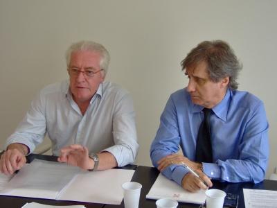 Da sinistra, Tommaso Caroselli e Luciano Vizioli, Confindustria
