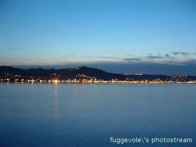 San Benedetto al tramonto vista dal molo sud