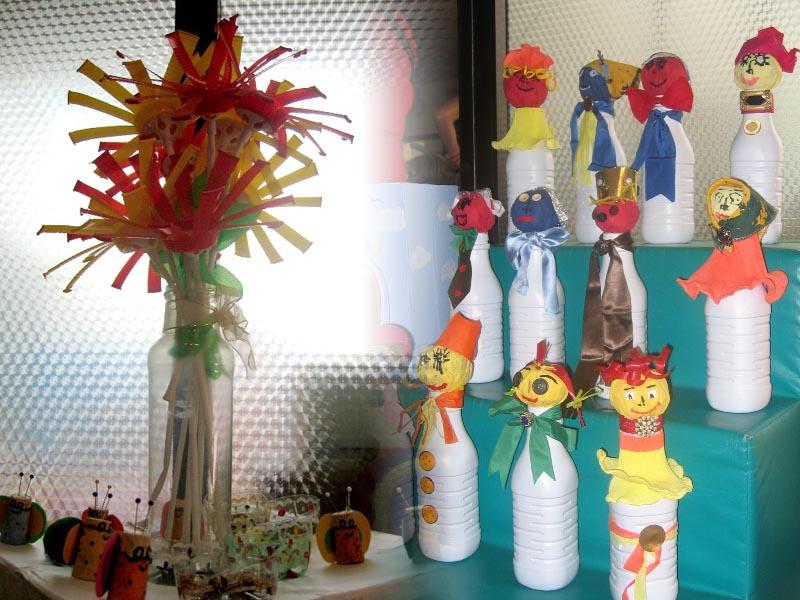 Alcuni dei lavoretti realizzati dai bambini della scuola primaria