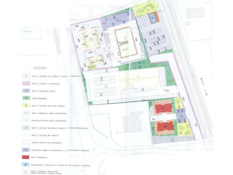 Il progetto per la realizzazione del centro residenziale-commerciale in prossimità del cimitero, tra la statale Adriatica e via Colombo