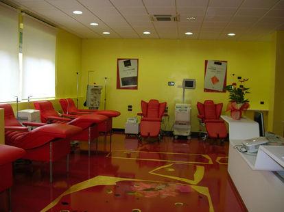 L'attuale sede dell'Avis presso l'ospedale