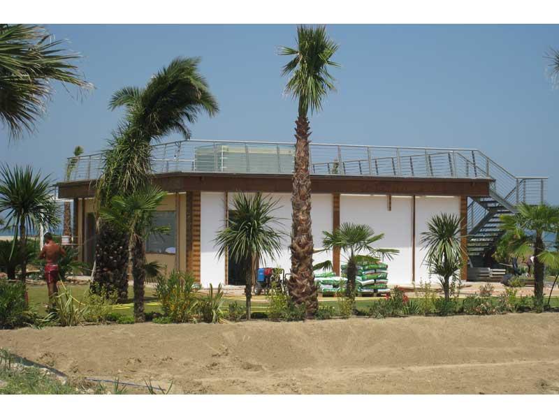 Lo stabilimento Smaila's che verrà inaugurato il 4 luglio